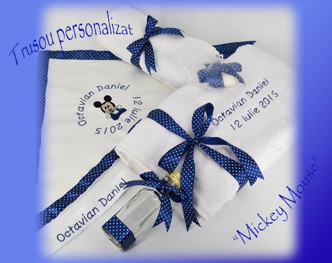 Trusou de botez Mickey Mousse Personalizat