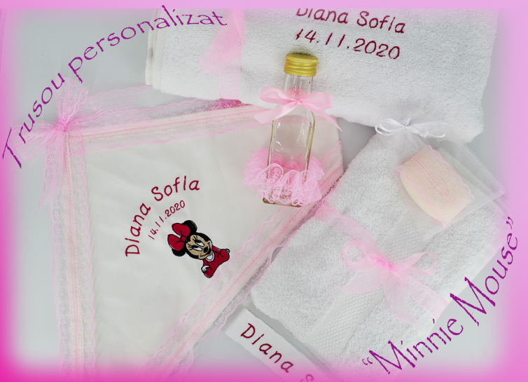 Trusou de botez Minnie Mouse