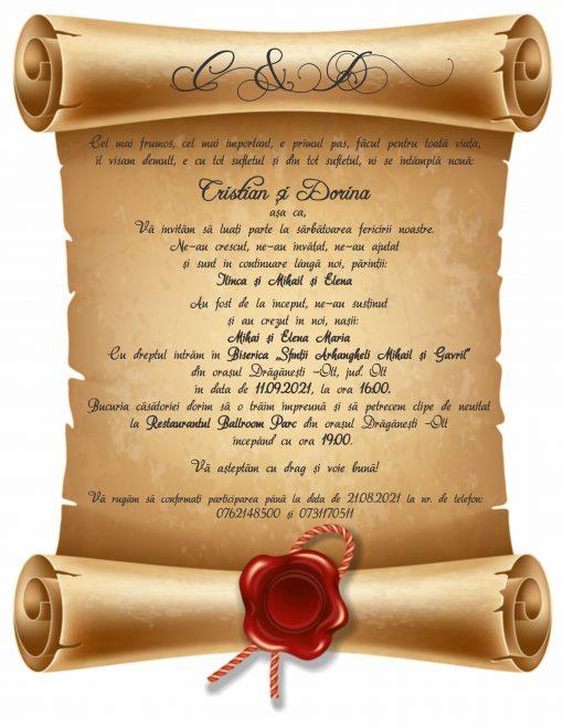 Invitatie electronica papirus